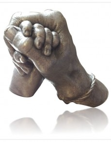 Adults with Children - Clasping Hands Statue